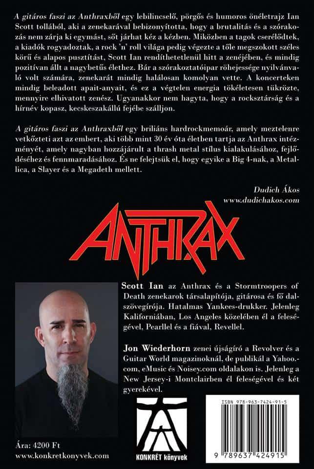 anthrax könyv hátsó borító